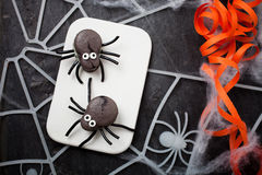 Spider macaroons Royalty Free Stock Photo