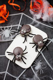 Spider macaroons Royalty Free Stock Image