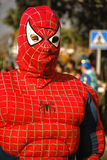 Spider-Man. Reyes Magos - Three Kings, View of Spider-Man, outdoor scene, January 5th each year sees the celebration of Los Reyes Magos or the Three Kings, the Stock Photography