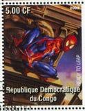 Spider-man. CONGO - CIRCA 2002: stamp printed by Congo, shows Spider-man, circa 2002 stock photo