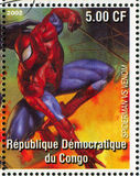 Spider-man. CONGO - CIRCA 2002: stamp printed by Congo, shows Spider-man, circa 2002 royalty free stock images