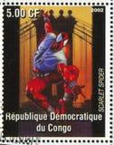 Spider-man. CONGO - CIRCA 2002: stamp printed by Congo, shows Spider-man, circa 2002 stock photography