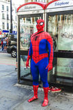 Spider-Man en Londres foto de archivo libre de regalías