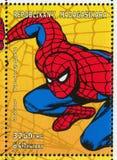 Spider-man. MADAGASCAR - CIRCA 1999: stamp printed by Madagascar, shows Spider-man, circa 1999 stock image