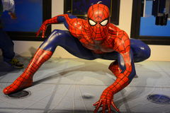Spider man - Marvel Avengers. Madame Tussauds in London - Avengers exposition Royalty Free Stock Image