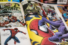 Spider-Man Marvel comics superhero. Spider-Man is a fictional superhero appearing in American comic books published by Marvel Comics. The character was created Stock Photos