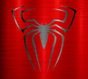 Spider man metallic texture Royalty Free Stock Images