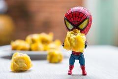 Spider-Man modèle avec des boulettes Photographie stock