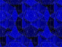 Spider Net Line Geometric Blue Kaleidoscope Vector Stock Photography