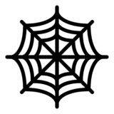 Spider net line icon. Spider web vector illustration isolated on white. Cobweb outline style design, designed for web. And app. Eps 10 royalty free illustration