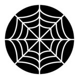 Spider net solid icon. Spider web vector illustration isolated on white. Cobweb glyph style design, designed for web and. App. Eps 10 royalty free illustration