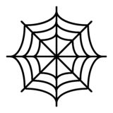 Spider net thin line icon. Spider web vector illustration isolated on white. Cobweb outline style design, designed for. Web and app. Eps 10 stock illustration