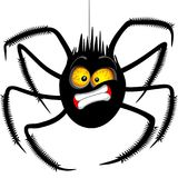 Spider `Oh No!` Face Emoticon Cartoon Character. Funny Spider Cartoon Character. His expression looks like he is saying or thinking `Oh No!...`. Original Vector Royalty Free Stock Images