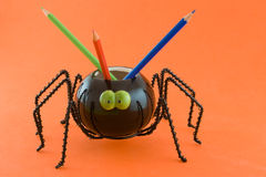 Spider with pencils Royalty Free Stock Image