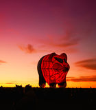 Spider pig glowing balloon Stock Photography