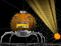 Spider pumpkin 1 Royalty Free Stock Photography