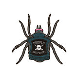 Spider punk. People are poison. T-shirt print design Royalty Free Stock Photos
