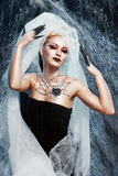 Spider queen costume Stock Photography