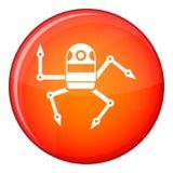 Spider robot icon, flat style Stock Photo