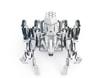 Spider robot using Jansen mechanism and Klann mechanism TOP VIEW Stock Image