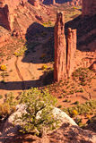 Spider Rock. Famous Spider Rock in Canyon de Chelly, Arizona Stock Photography