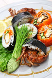 Spider roll sushi Royalty Free Stock Images