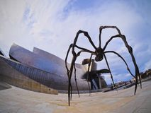 Spider Sculpture in Bilbao Stock Images