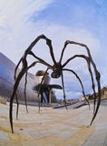 Spider Sculpture in Bilbao Stock Photo