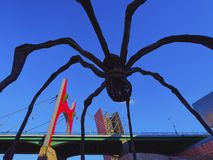 Spider Sculpture in Bilbao Stock Image