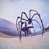 Spider Sculpture in Bilbao Royalty Free Stock Image