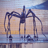 Spider Sculpture in Bilbao Royalty Free Stock Photography