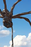 Spider Sculpture before Clouds Stock Photo