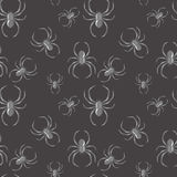 Spider Seamless Pattern Gothic Background Stock Image