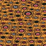 Spider seamless pattern. Vector texture Stock Photo