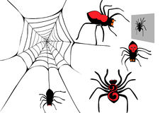 Spider set. Stock Images