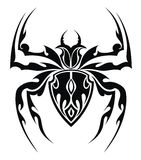 Spider tattoo stock illustration