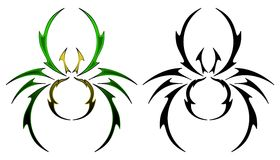 Spider tattoo design Stock Photo