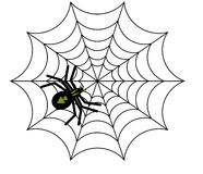Spider vector Royalty Free Stock Photos