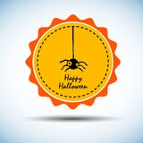 Spider vector halloween horror nature black Stock Images