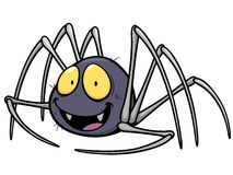 Spider. Vector illustration of Spider cartoon Stock Photography