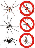 Spider - warning signs Royalty Free Stock Images