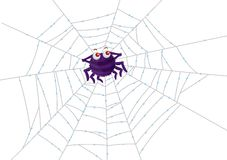 Spider and Web Royalty Free Stock Photos
