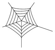 Spider web. On white background Royalty Free Stock Images