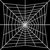 Spider web. White spider web on a black background Stock Photo