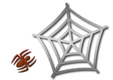 Spider and web. An illustration of a spider and a web Stock Illustration