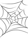 Spider Web. An illustration in line art of a spider web Royalty Free Stock Photo