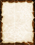 Spider Web Background. A spooky, fun border/frame that can be used for Halloween invites and events Royalty Free Stock Photos