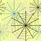 Spider Web. Background for Halloween with spider net royalty free illustration