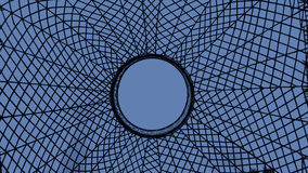 Spider Web in blue Royalty Free Stock Images