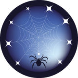 Spider web button Stock Photos